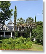 Plantation Home At Magnolia Plantation Metal Print