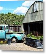 Planted Truck Bed Metal Print