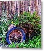 Planted Wheel Metal Print
