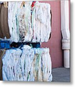 Plastic Bags To Be Recycled Metal Print