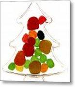 Plastic Christmas Tree Containing Sweet Metal Print