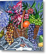 Plastic Fruits And Flowers Metal Print
