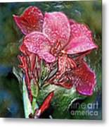 Plastic Wrapped Pink Flower By Diana Sainz Metal Print