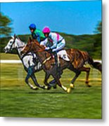 Plastic Wrapped Steeplechase Metal Print