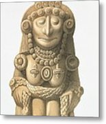 Plate From Ancient Monuments Of Mexico Metal Print