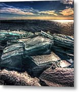 Plate Ice Brighton Beach Duluth Metal Print
