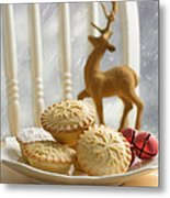 Plate Of Mince Pies Metal Print