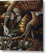 Plateosaurus Dinosaur Nest Metal Print