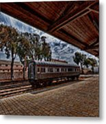 platform view of the first railway station of Tel Aviv Metal Print