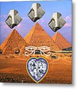 Platinum Ray Metal Print