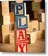 Play - Alphabet Blocks Metal Print