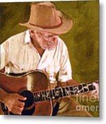 Play Guitar Play Metal Print by Sharon Burger