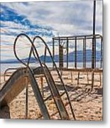 Play Time Is Over Slide Playground Metal Print