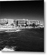Playa De Cappellans And Salou Waterfront Properties On The Costa Dorada Catalonia Spain Metal Print