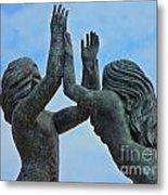Playa Del Carmen Statue Metal Print