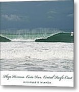 Playa Hermosa Wave Triptych Central Pacific Coast Costa Rica Metal Print
