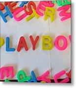 Playboy - Magnetic Letters Metal Print