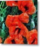 Playful Poppies 5 Metal Print