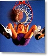 Playing Basketball Metal Print