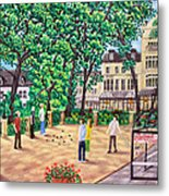 Playing Boules At Betty's Cafe- Harrogate Metal Print