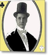 Playing Card Of Actor And Director Romain Fielding Unknown Date-2008 Metal Print