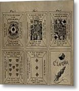Playing Cards Patent Metal Print