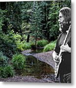 Playing For The Creek Metal Print