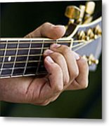 Playing Guitar Metal Print