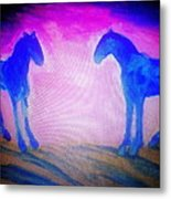 The Horses Were Playing The Blues Whole Night  Metal Print