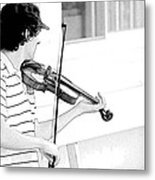 Playing Violin Metal Print