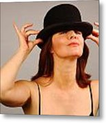 Playing With The Hat Metal Print