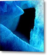 Playing With The Snow And Ice Kappl Mountain Austria  Metal Print