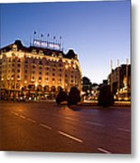 Plaza De Neptuno And Palace Hotel Metal Print