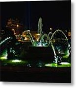 Plaza Fountain Metal Print