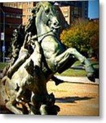 Plaza Horse Metal Print