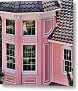 Beautiful Pink Turret - Boardwalk Plaza Hotel Annex - Rehoboth Beach Delaware Metal Print