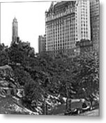 Plaza Hotel From Central Park Metal Print