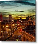 Plaza Lights At Sunset Metal Print