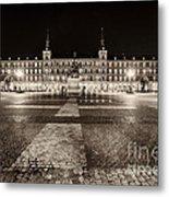 Plaza Mayor After Midnight Metal Print
