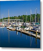 Pleasant Harbor Metal Print by Mark Bowmer