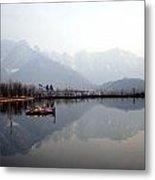 Pleasant View Of Dal Lake- Kashmir- India- Viator's Agonism Metal Print