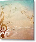 Please Dont Stop The Music Metal Print by Angelina Vick