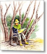 Plein Air Artist At Work Metal Print by Irina Sztukowski