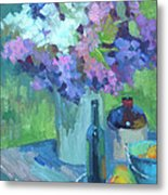 Plein Air Lilacs Metal Print