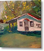 Plein Air Study Worms And Crickets Metal Print