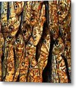 Plenty Of Small Dried Fishes On A Stack Metal Print