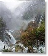 Plitvice Lakes In Winter 4 Metal Print