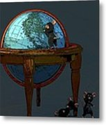 Plotting To Conquer The World... Metal Print