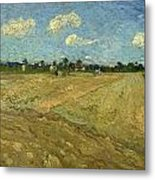 Ploughed Fields - The Furrows Metal Print