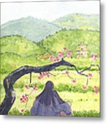 Plumb Blossom Love Metal Print by Lilibeth Andre